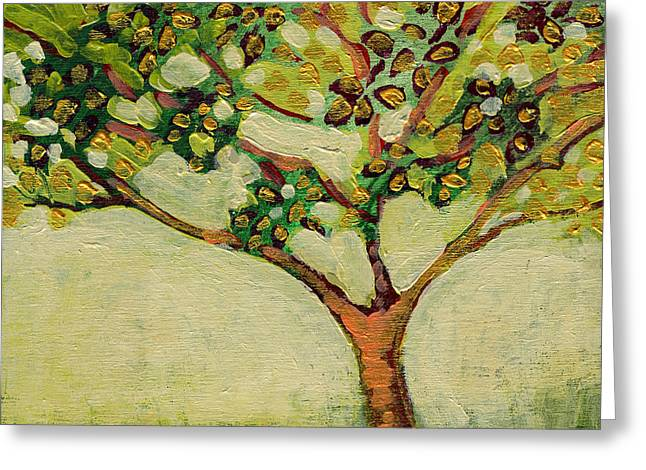 Tree Greeting Cards - Plein Air Garden Series No 8 Greeting Card by Jennifer Lommers