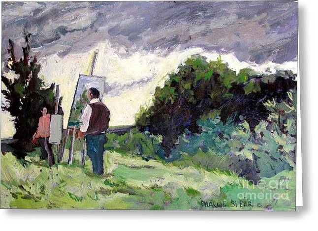 Analogous Greeting Cards - Plein Air Painters Association Greeting Card by Charlie Spear