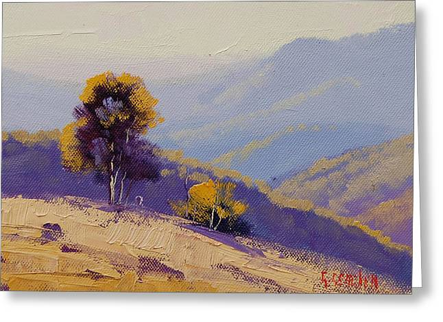 Rural Greeting Cards - Plein Air  Study Greeting Card by Graham Gercken