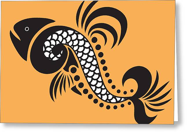 Yellow Fish Mixed Media Greeting Cards - Plenty Of Fish In The Sea 5 Fish Greeting Card by Angelina Vick