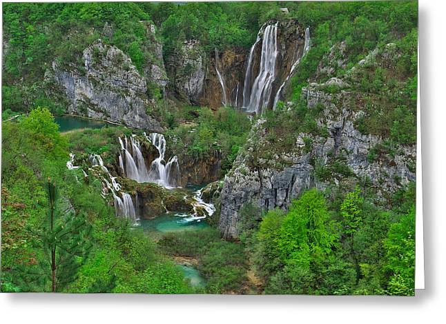 Plitvice Greeting Card by Ivan Slosar