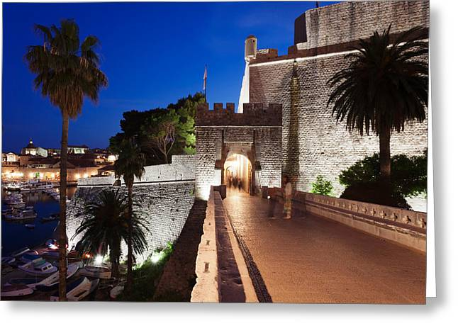 Dubrovnik Greeting Cards - Ploce Gate And Fort Revelin, Dubrovnik Greeting Card by Panoramic Images