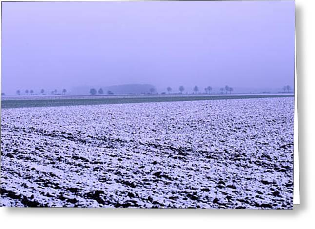 Outlook Greeting Cards - Ploughed acre in winter Greeting Card by Intensivelight