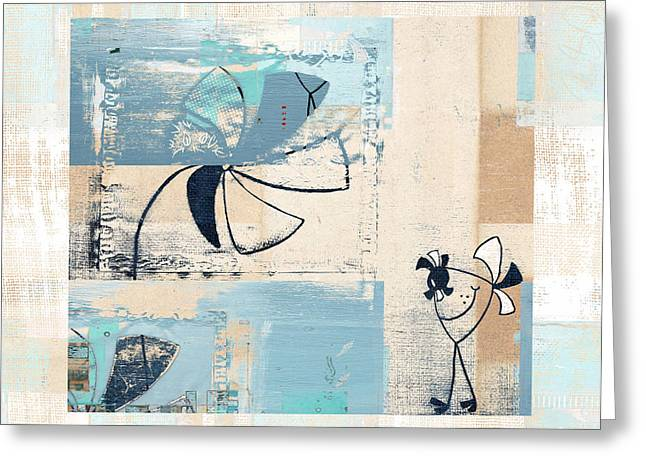 Bird Collage Greeting Cards - Plouk - cl22a Greeting Card by Variance Collections