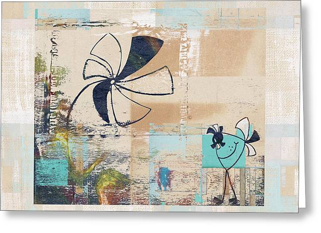 Texture Floral Mixed Media Greeting Cards - Plouk - cl23a Greeting Card by Variance Collections