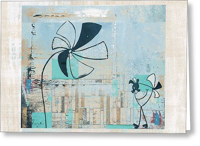 Kids Art Mixed Media Greeting Cards - Plouk - cl25a Greeting Card by Variance Collections