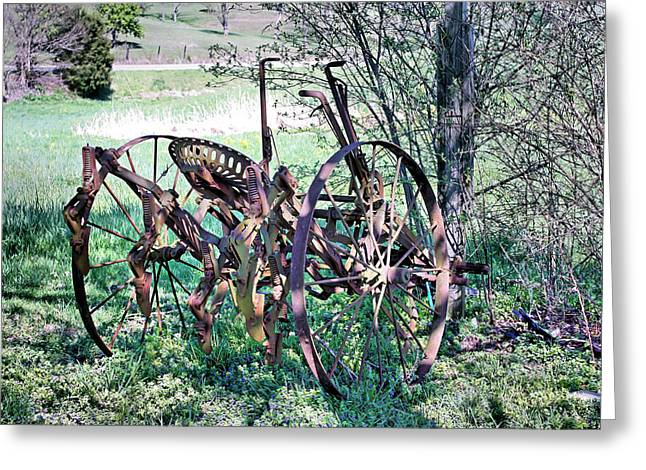 Old Fence Posts Greeting Cards - Plowed Out Greeting Card by Kristin Elmquist