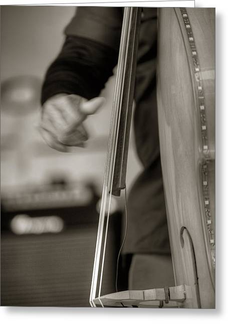 Stand Up Bass Greeting Cards - Pluckin Greeting Card by Steve Gravano