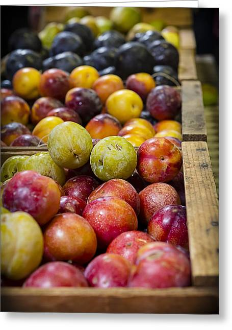 Farm Stand Greeting Cards - Plum Gorgeous Greeting Card by Caitlyn  Grasso