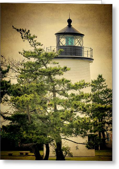 Iron Greeting Cards - Plum Island Light Greeting Card by Joan Carroll