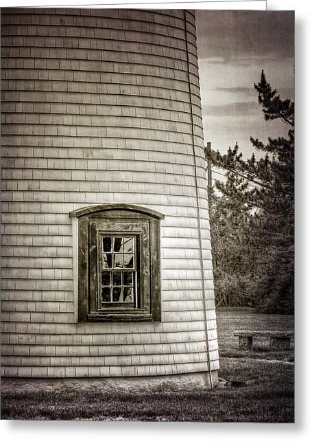 Iron Greeting Cards - Plum Island Window Greeting Card by Joan Carroll
