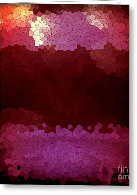 Focal Color Art Greeting Cards - Plum Mosaic Greeting Card by Anita Lewis
