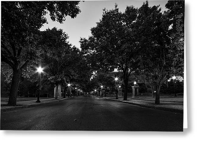 Franklin Photographs Greeting Cards - Plum Street to Franklin Square Greeting Card by Everet Regal