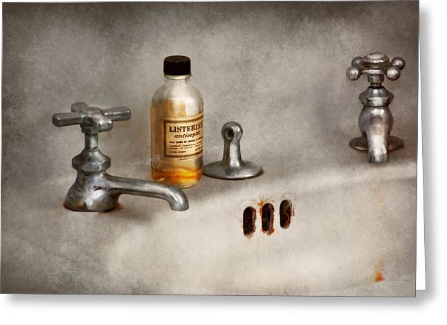 Antiseptic Greeting Cards - Plumber - Got a hot date tonight Greeting Card by Mike Savad