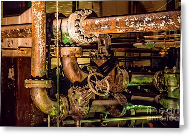 Best Sellers -  - Basement Greeting Cards - Plumbing Greeting Card by Jon Burch Photography
