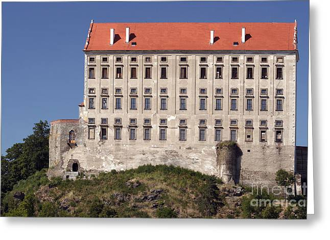 Moravia Greeting Cards - Plumlov castle Greeting Card by Michal Boubin