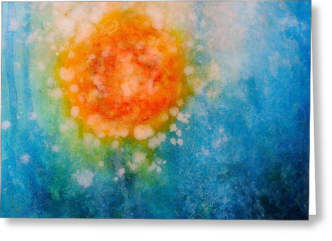 Bubbly Mixed Media Greeting Cards - Plunge Greeting Card by Freddie Lieberman