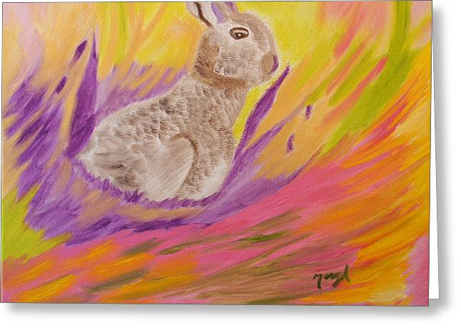 Plunge Into Your Painting Greeting Card by Meryl Goudey