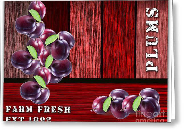 Plums Greeting Cards - Plus Farm Greeting Card by Marvin Blaine