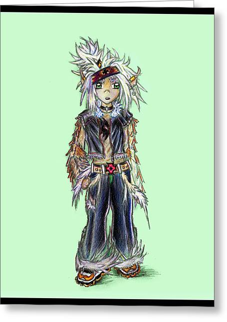 Winged Goddess Mixed Media Greeting Cards - Plus Greeting Card by Shawn Dall
