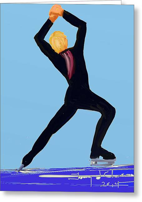 Terry Chacon Greeting Cards - Plushenko Greeting Card by Terry  Chacon