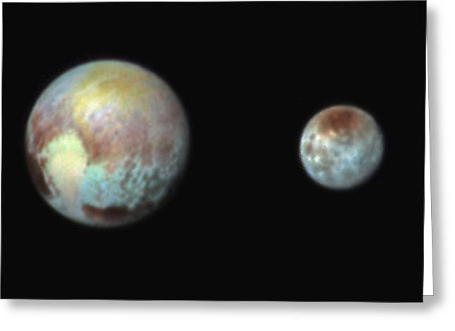 Pluto And Charon Greeting Card by Nasa/apl/swri