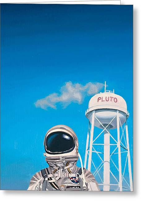"""pop Art"" Greeting Cards - Pluto Greeting Card by Scott Listfield"