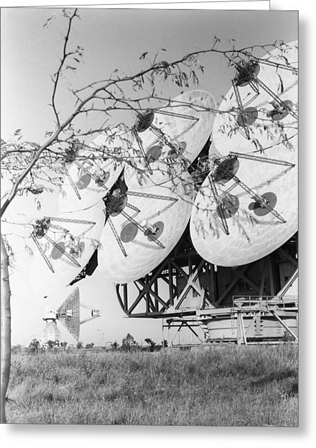 Steering Greeting Cards - Pluton space radio receivers, 1969 Greeting Card by Science Photo Library