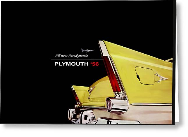 Plymouth Greeting Cards - Plymouth 56 Greeting Card by Mark Rogan