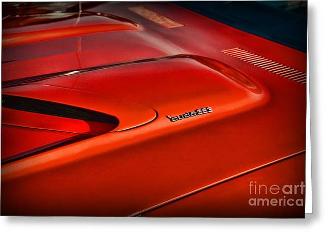 383 Greeting Cards - Plymouth Barracuda 383 Greeting Card by Paul Ward
