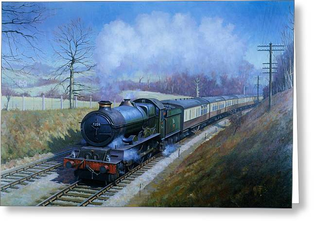 Railway Locomotive Greeting Cards - Plymouth bound. Greeting Card by Mike  Jeffries