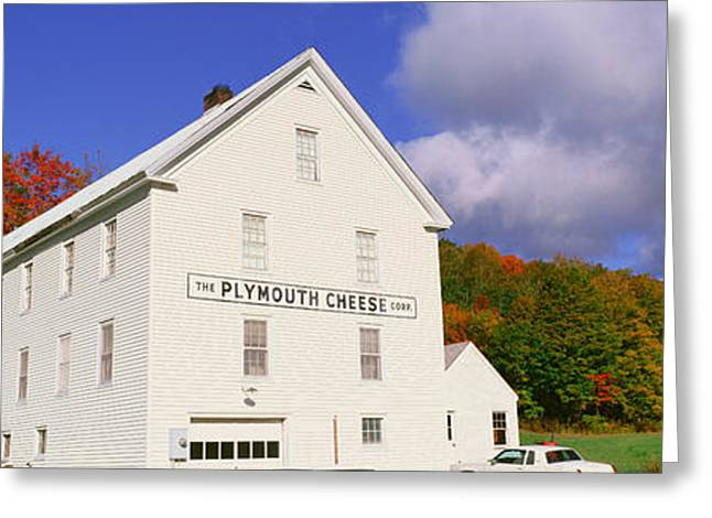 Coolidge Greeting Cards - Plymouth Cheese Corporation In Autumn Greeting Card by Panoramic Images