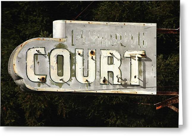 Santa Cruz Art Greeting Cards - Plymouth Court Sign Greeting Card by Art Block Collections