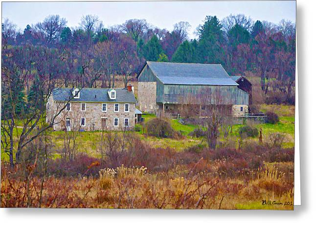Stone House Greeting Cards - Plymouth Farm Greeting Card by Bill Cannon