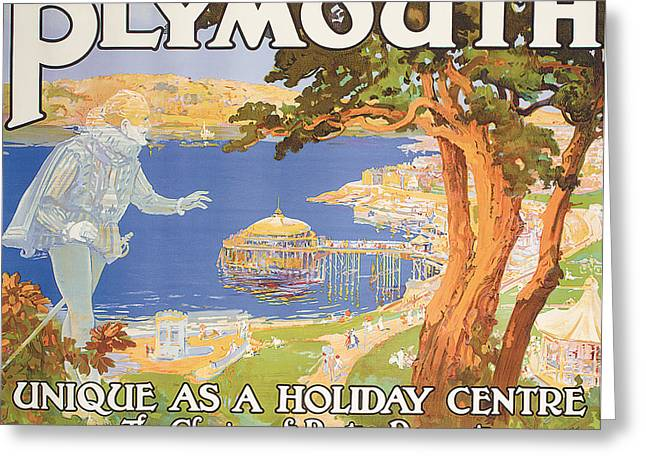30s Greeting Cards - Plymouth Greeting Card by Frederick Hammersley Ball