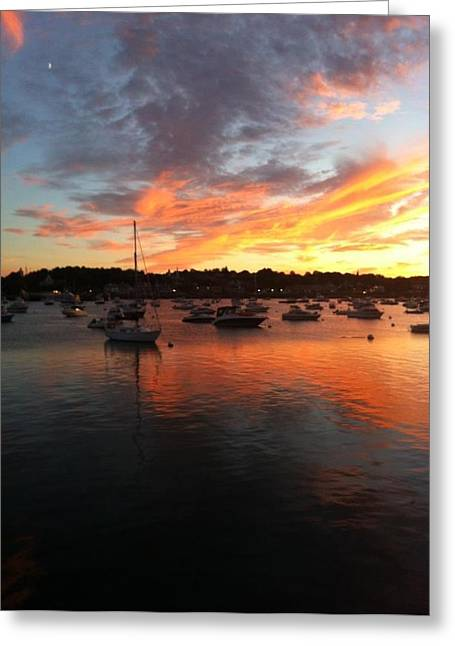 Plymouth Harbor Greeting Cards - Plymouth Harbor Greeting Card by Jeff Herman