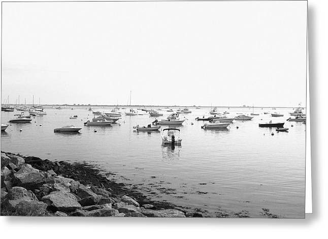 Plymouth Harbor Greeting Cards - Plymouth Harbor Greeting Card by John Hoey