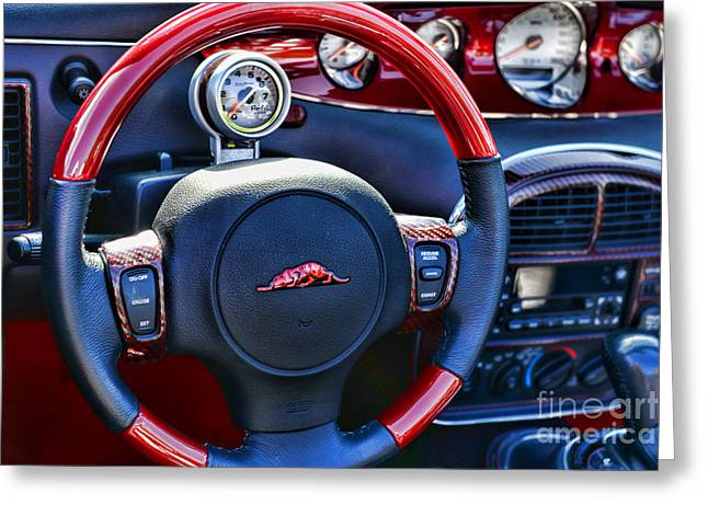 Candy Apples Greeting Cards - Plymouth Prowler Steering Wheel Greeting Card by Paul Ward