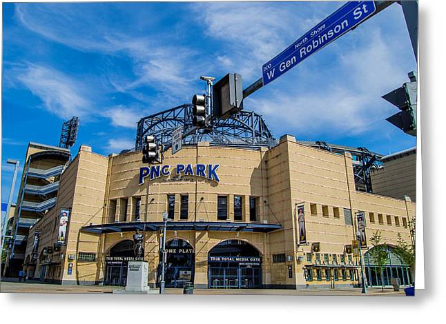Buccos Greeting Cards - Pnc Park  Greeting Card by Anthony Thomas