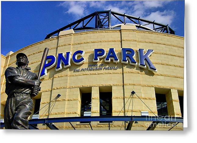 Honus Wagner Greeting Cards - PNC Park Baseball Stadium Pittsburgh Pennsylvania Greeting Card by Amy Cicconi