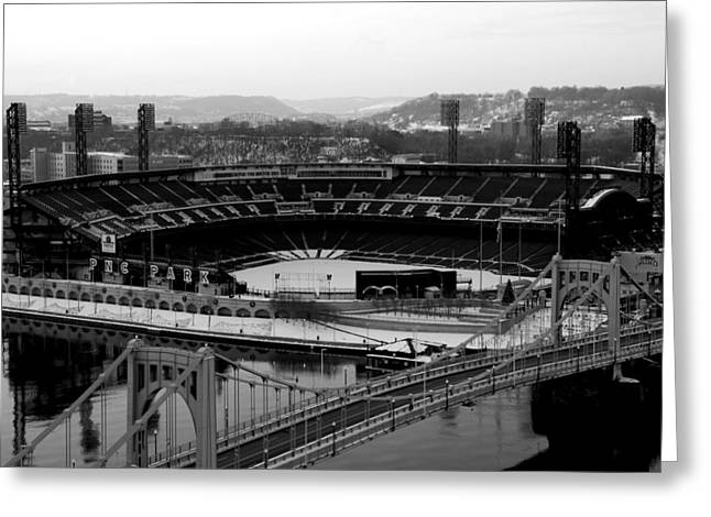 Pnc Park From Above Greeting Card by Paul Scolieri