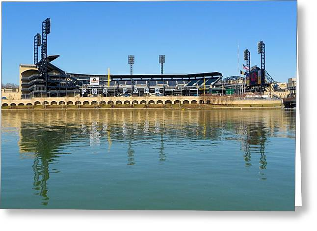 Pennsylvania Baseball Parks Greeting Cards - PNC Park Pittsburgh Greeting Card by Mountain Dreams