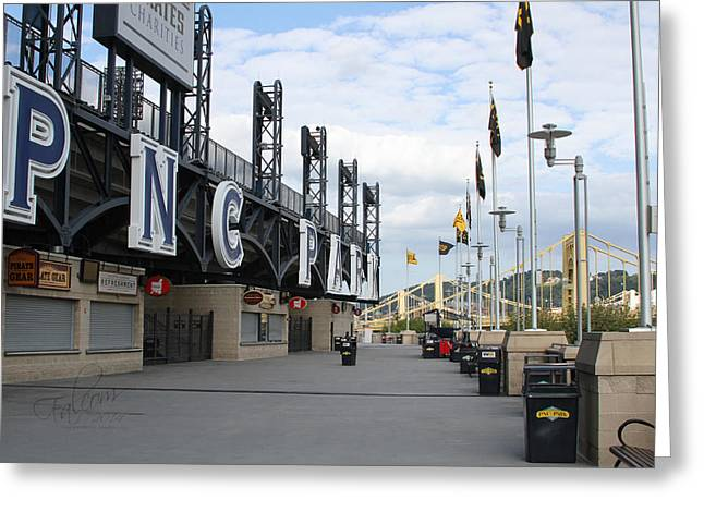 Roberto Greeting Cards - PNC Park Riverwalk Digital Image Greeting Card by Stephen Falavolito