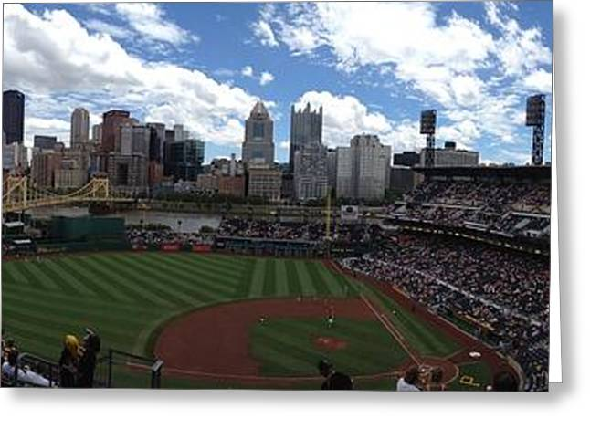 4th July Photographs Greeting Cards - PNC Park Greeting Card by Shelley Johnsen