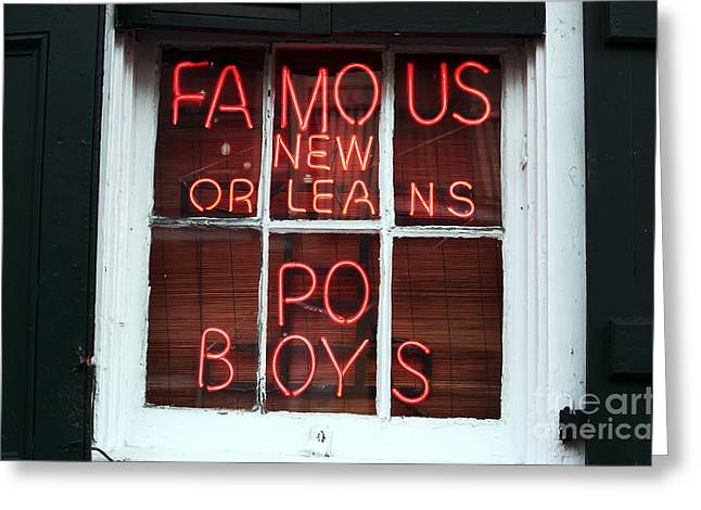 Famous Photographer Greeting Cards - PO Boys Greeting Card by John Rizzuto