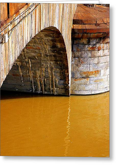 Po River Waters Greeting Card by Valentino Visentini