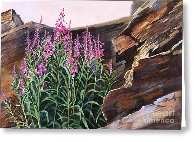 Texture Flower Paintings Greeting Cards - Pocket of Color Greeting Card by Sharon Freeman
