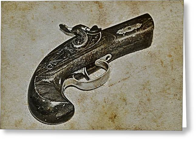 Police Mixed Media Greeting Cards - Pocket Pistol Greeting Card by Todd and candice Dailey