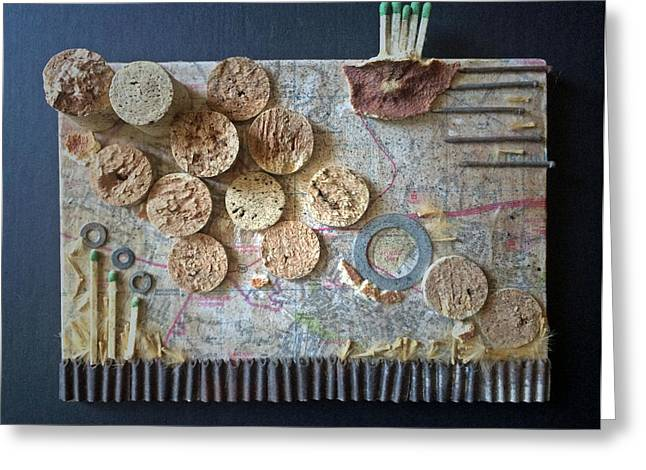 Found-object Sculptures Greeting Cards - Pocket Stream Greeting Card by William Cauthern