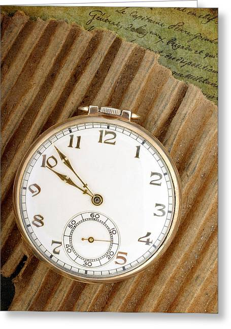 Timely Greeting Cards - Pocket Watch Greeting Card by David and Carol Kelly